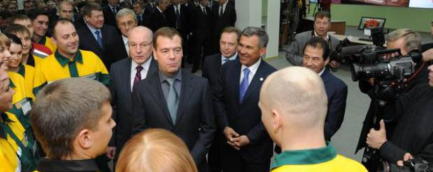 Премьер-министр РФ запустил установку по производству топлива на нижнекамском предприятии