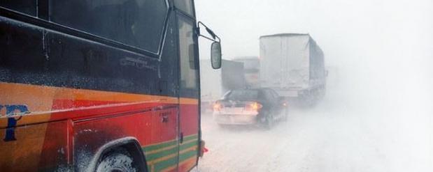 Из-за метели в Нижнекамске отменили автобусы до Казани