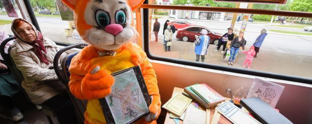 По Нижнекамску курсирует посвященный творчеству Пушкина трамвай